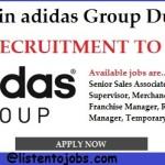 Huge Latest Job Vacancies in Asidas @Dubai,UAE