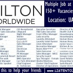 Latest Job Vacancies in Hilton Hotel Group   Any Graduate/ Any Degree / Diploma / ITI  Btech   MBA   +2   Post Graduates  UAE,Worldwide