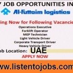 Latest Job Vacancies in Al-Futtaim Logistics | Any Graduate/ Any Degree / Diploma / ITI |Btech | MBA | +2 | Post Graduates | UAE