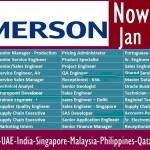 Huge Job Vacancies in Emerson @Dubai,Abu Dhabi,Saudi Arabia,Qatar,UAE