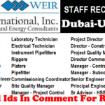 LATEST Oil and Gas Job Vacancies in Weir International | Any Graduate/ Any Degree / Diploma / ITI |Btech | MBA | +2 | Post Graduates | Dubai-UAE,USA