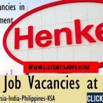 Huge Latest Job Vacancies in Henkel | Any Graduate/ Any Degree / Diploma / ITI |Btech | MBA | +2 | Post Graduates | Dubai,Saudi Arabia,UAE