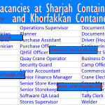 Huge Oil and Gas  Job Vacancies in Sharjah Container Terminal (SCT) @Sharjah,UAE