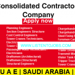 Latest Job Vacancies in Consolidated Contractors Company 2020| Any Graduate/ Any Degree / Diploma / ITI |Btech | MBA | +2 | Post Graduates | UAE