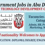 Latest Job Vacancies in Abu Dhabi Technology Development Committee (TDC)@Abu Dhabi, UAE