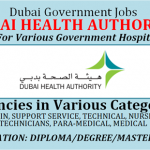 Huge Latest Job Vacancies in Dubai Health Authority @Dubai,UAE