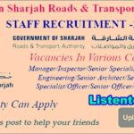 Latest Government Job Vacancies in Sharjah Road & Transport Authority 2018 | Any Graduate/ Any Degree / Diploma / ITI |Btech | MBA | +2 | Post Graduates| Sharjah |  Submit Your Resume