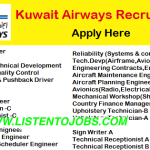 LATEST Job Vacancies in Kuwait Airways 2018 | Any Graduate/ Any Degree / Diploma / ITI |Btech | MBA | +2 | Post Graduates  | Kuwait,UAE