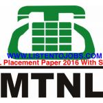 MTNL Placement Paper 2016 With Solution