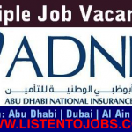 Latest Job Vacancies in Abu Dhabi National Insurance Company @Abu Dhabi,UAE