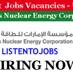 100+  Latest Job Vacancies in Emirates Nuclear Energy Corporation (ENEC) | Any Graduate/ Any Degree / Diploma / ITI |Btech | MBA | +2 | Post Graduates | UAE