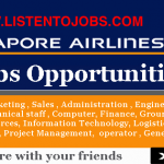 Latest Job Vacancies in Singapore Airlines 2019 | Any Graduate/ Any Degree / Diploma / ITI |Btech | MBA | +2 | Post Graduates  | Singapore