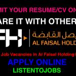 Latest Job Vacancies in Al Faisal Holding | Any Graduate/ Any Degree / Diploma / ITI |Btech | MBA | +2 | Post Graduates | Qatar