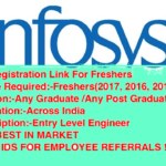 INFOSYS Registration Link For Freshers 2018/2017/2016/2015/2014/2013|Across India |Apply Online