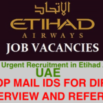 HUGE Urgent Recruitment in Etihad Airways @UAE|Immediate Joining |Apply Online