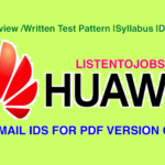 Huawei 2017-2018 Interview /Written Test Pattern |Syllabus |Download PDF