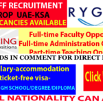 Latest Job Vacancies in Rygon | Any Graduate/ Any Degree / Diploma / ITI |Btech | MBA | +2 | Post Graduates | UAE,Dubai,Saudi Arabia