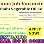 Latest Job Openings in Abu Dhabi Vegetable Oil Company (ADVOC) 2017 | Any Graduate/ Any Degree / Diploma / ITI |Btech | MBA | +2 | Post Graduates | Abu Dhabi ,UAE | Apply Online