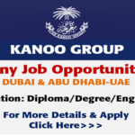 Latest Job Vacancies in Kanoo Group | Any Graduate/ Any Degree / Diploma / ITI |Btech | MBA | +2 | Post Graduates | Dubai,UAE
