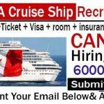 Latest Cruise Ship Jobs in Canada 2018 |  Any Graduate/ Any Degree / Diploma / ITI |Btech | MBA | +2 | Post Graduates | Apply Online